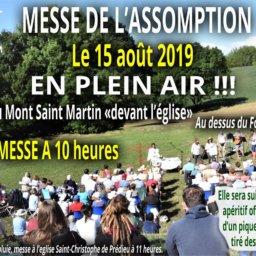 messe de l'assomption 15 août 2019